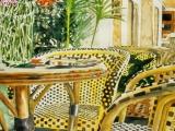 paris cafe interior with wicker 22x15