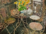 parisian interior with daffodils - 20 x22