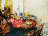 red table interior paris 2 17.5x22