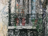 paris balcony luxembourg gardens 26x18