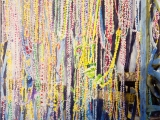 mardi gras beads balcony nawlins 22x16