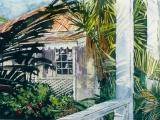 tropical verandah fohey hill 2 tortola BVI 11 x 15 watercolour on arches paper