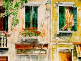 sunlight n sea air geranium balcony academia 22x30